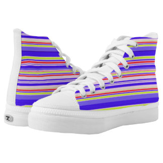 Vector Stripes seamless pattern Printed Shoes