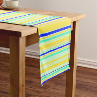 Vector Stripes seamless pattern Short Table Runner