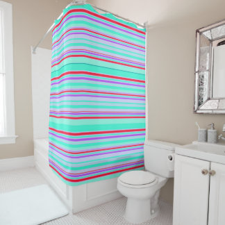 Vector Stripes seamless pattern Shower Curtain