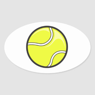 vector tennis ball graphic oval sticker