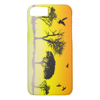 Vector Tree Silhouette iPhone 8/7 Case