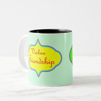 Vector Value Friendship Two-Tone Coffee Mug