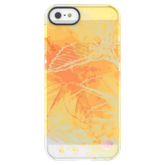 Vector Watercolor Background & Tropical Flowers Permafrost® iPhone SE/5/5s Case