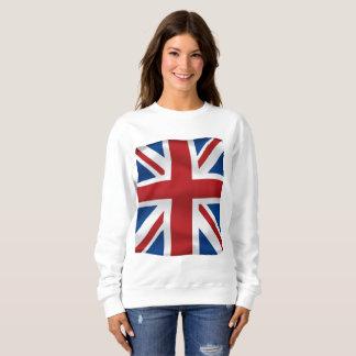 Vector  Waving British National Flag Sweatshirt