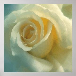 Vector White Rose Poster