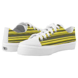 Vector Yellow and grey Stripes Zipz Low Tops