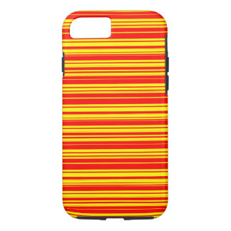 Vector yellow and read Stripes iPhone 8/7 Case