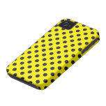 Vector Yellow & Black Polka Dot iPhone Case iPhone 4 Cover