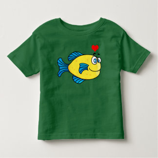Vector  Yellow Cartoon  Puffer Fish Toddler T-Shirt