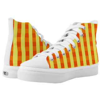 Vector Yellow checked pattern High Tops