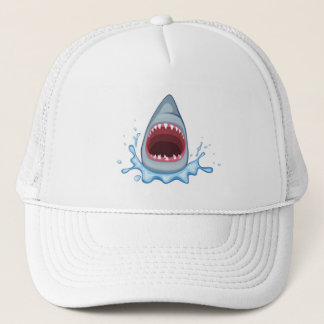vectorstock_383155 Cartoon Shark Teeth hungry Trucker Hat