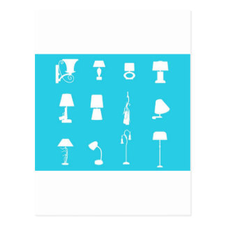 vectorvaco-09101604-lamp-silhouette-large postcard