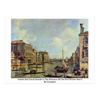 Veduta Del Canal Grande By Canaletto Postcard