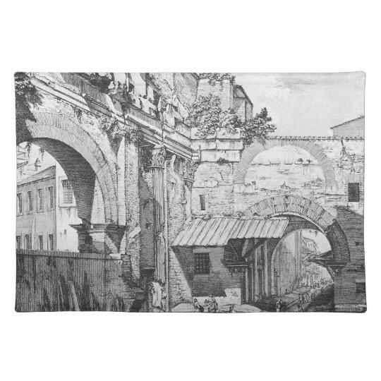 Veduta dell`Atrio del Portico di Ottavia Place Mat