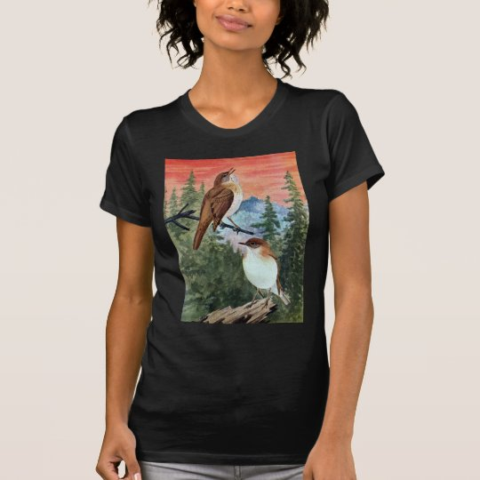 Veeries in a Coniferous Forest T-Shirt