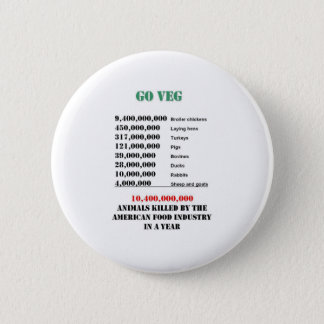 veg numbers 6 cm round badge