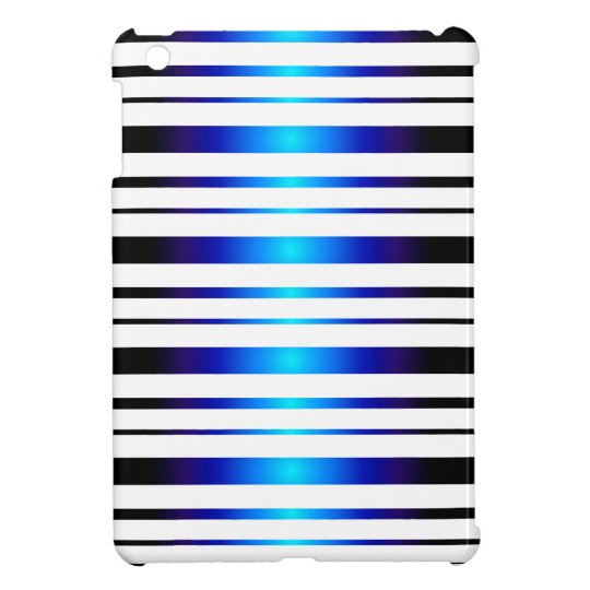 Vega Blue Glowing Stripes Pattern iPad Mini Case