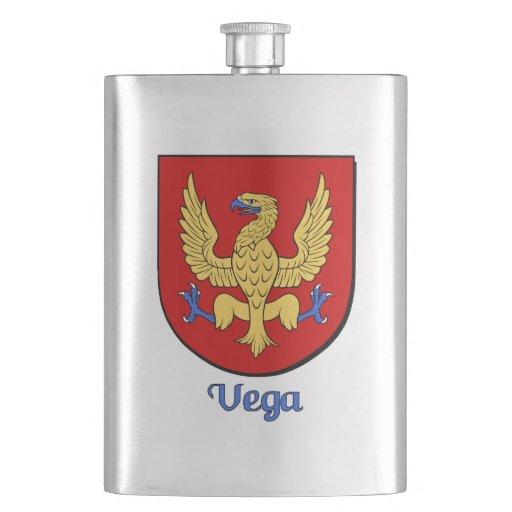 Vega Heraldic Shield Hip Flask