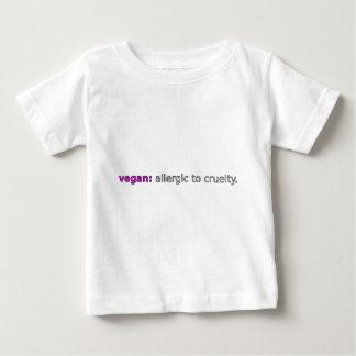 Vegan: Allergic to Cruelty (lilac) Baby T-Shirt