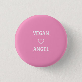 VEGAN ANGEL 3 CM ROUND BADGE