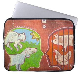 Vegan anti speciesism computer cover laptop computer sleeve