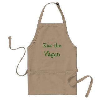 Vegan Apron KISS THE VEGAN Cook Shirt Cute Funny