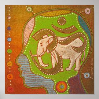 Vegan Aum elephant freedom Poster