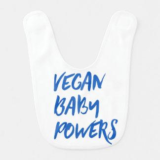 """""""Vegan Baby Powers"""" baby bib"""