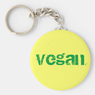Vegan Basic Round Button Key Ring