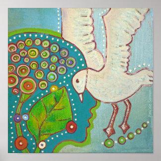 vegan bird freedom Poster