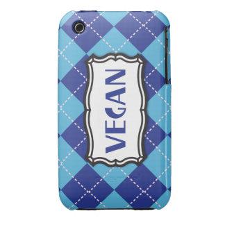 Vegan (blue argyle) iPhone 3 Case-Mate cases
