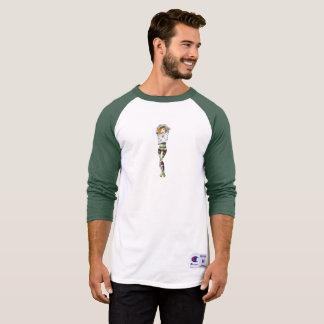 Vegan Bob Vegan Tattooed Pinup Baseball Shirt
