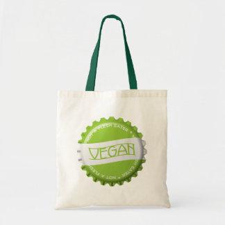 Vegan Bottlecap Budget Tote Bag