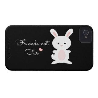 "Vegan Bunny ""Friends Not Fur"" iPhone 4 Covers"