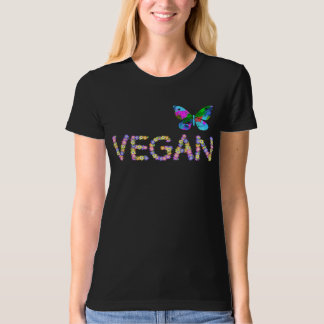 VEGAN + butterfly 100% cotton Organic T T-Shirt