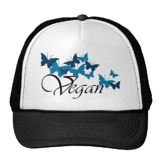 Vegan Butterfly Design Cap