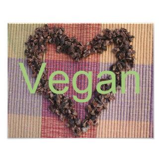 Vegan Cacao Nibs Heart Photographic Print