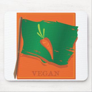 Vegan Carrot Flag Mouse Pad