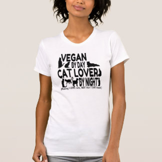 Vegan Cat Lover Humor T-Shirt