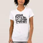 Vegan Cat Lover Humour T Shirt