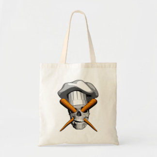 Vegan Chef Skull Tote Bag
