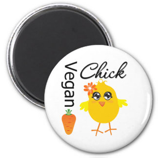Vegan Chick 2 6 Cm Round Magnet