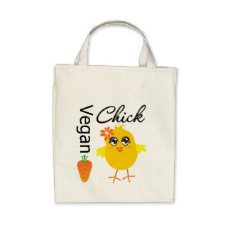 Vegan Chick 2 Canvas Bags