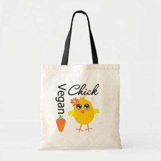Vegan Chick 2 Budget Tote Bag