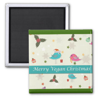 Vegan Christmas Gifts Square Magnet