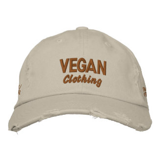 VEGAN Clothing Distressed Embroidered Cap