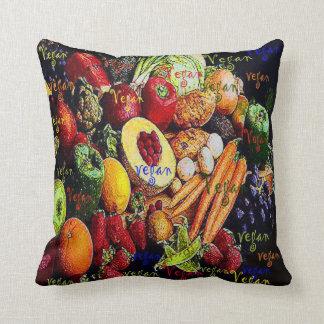 Vegan Colorful Throw Pillow