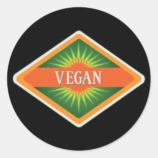 Vegan Colors Logo Classic Round Sticker
