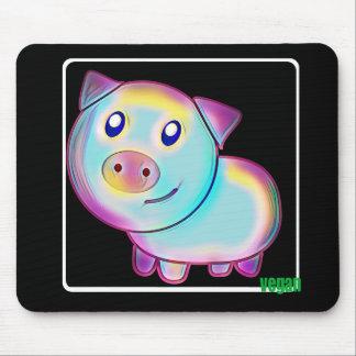 Vegan coloured pig mouse mat