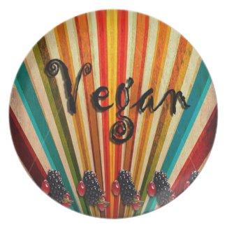 Vegan Colourful Folk Art Plate